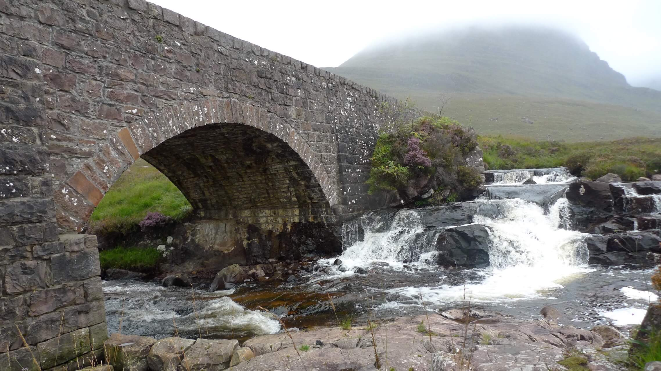 Russel Burn Bridge at the foot of the Bealach na Bá