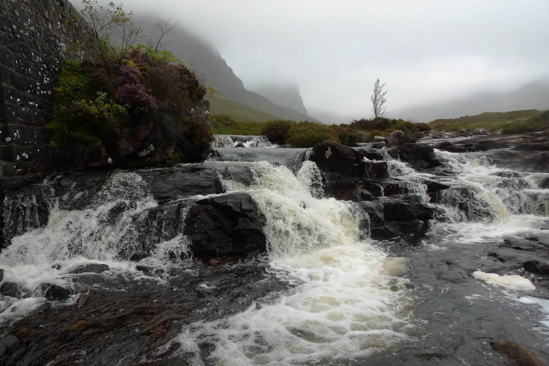 Russel Burn at the foot of the Bealach na Bá