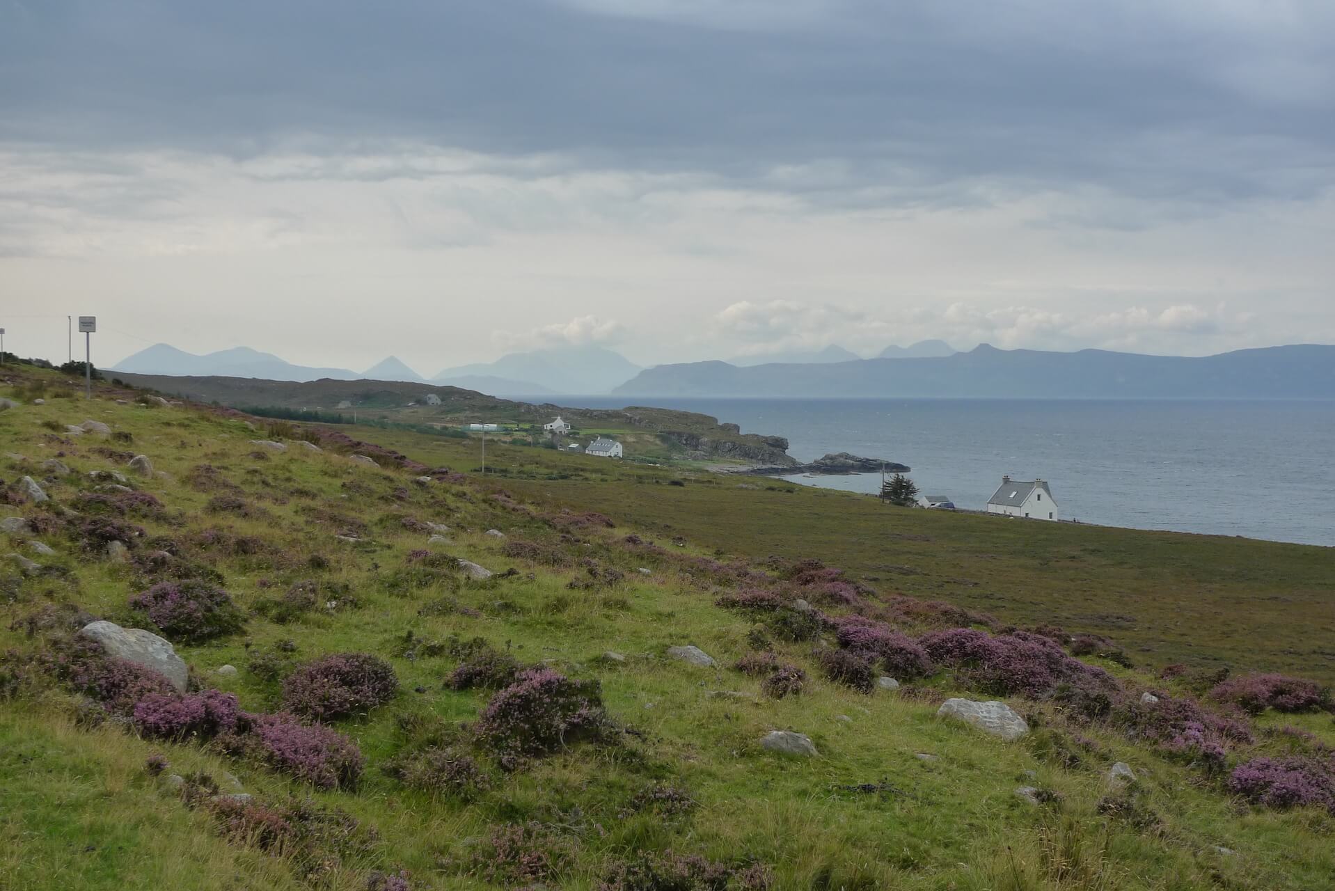 View over the sea to Skye from Applecross