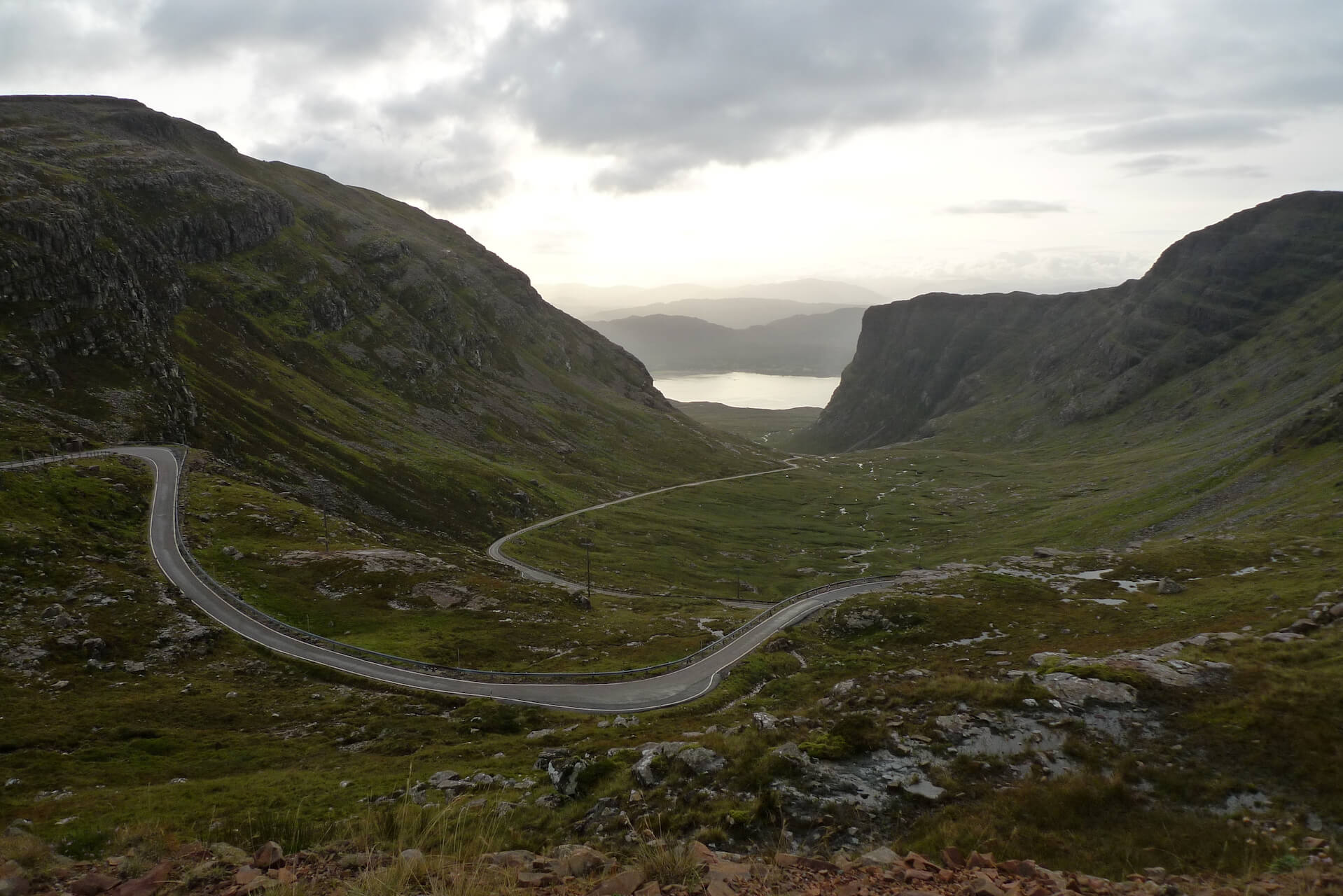 Hairpin bend roads on the Bealach na Bá