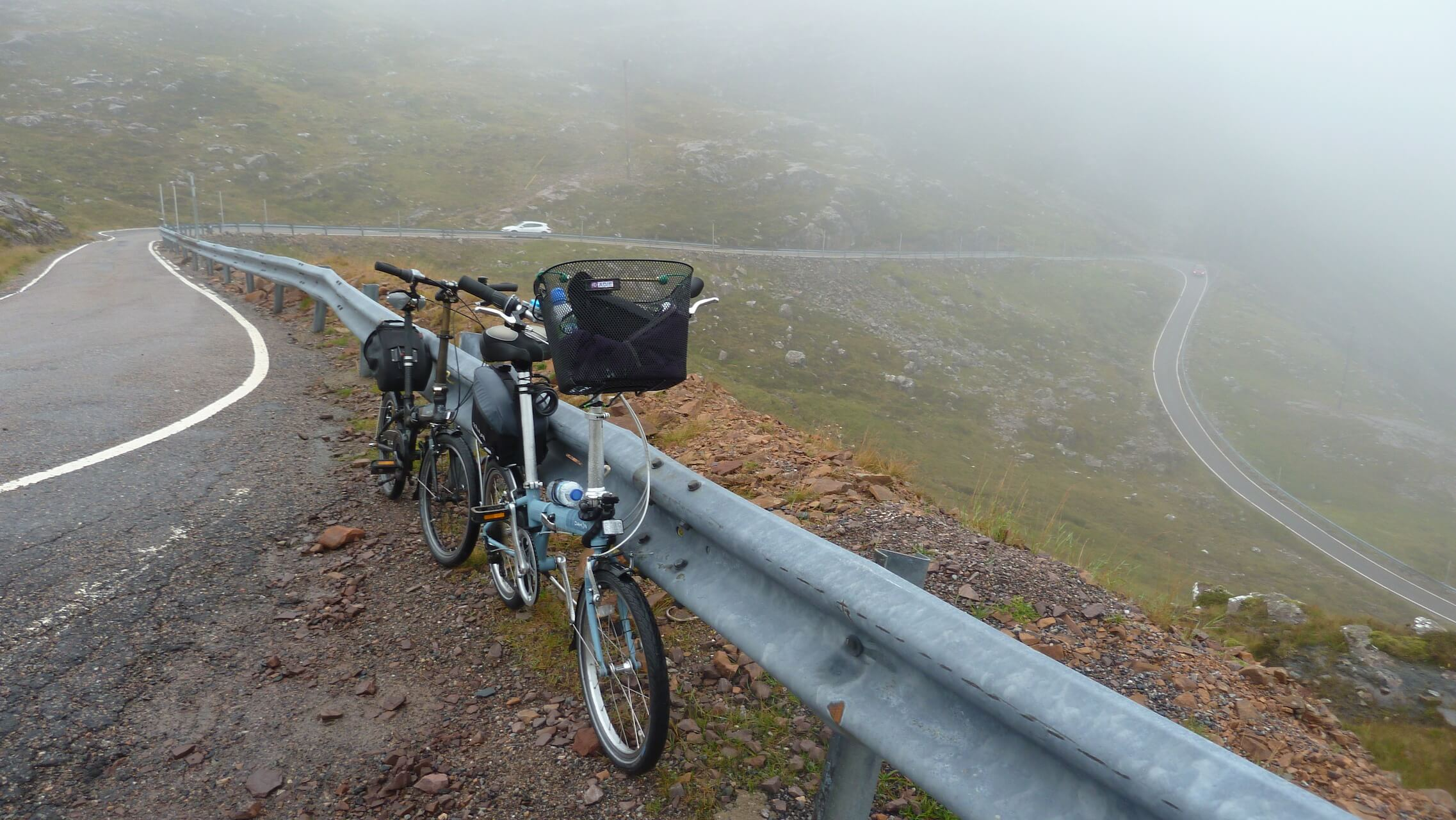 Folding bikes and hairpin bend roads on the Bealach na Bá