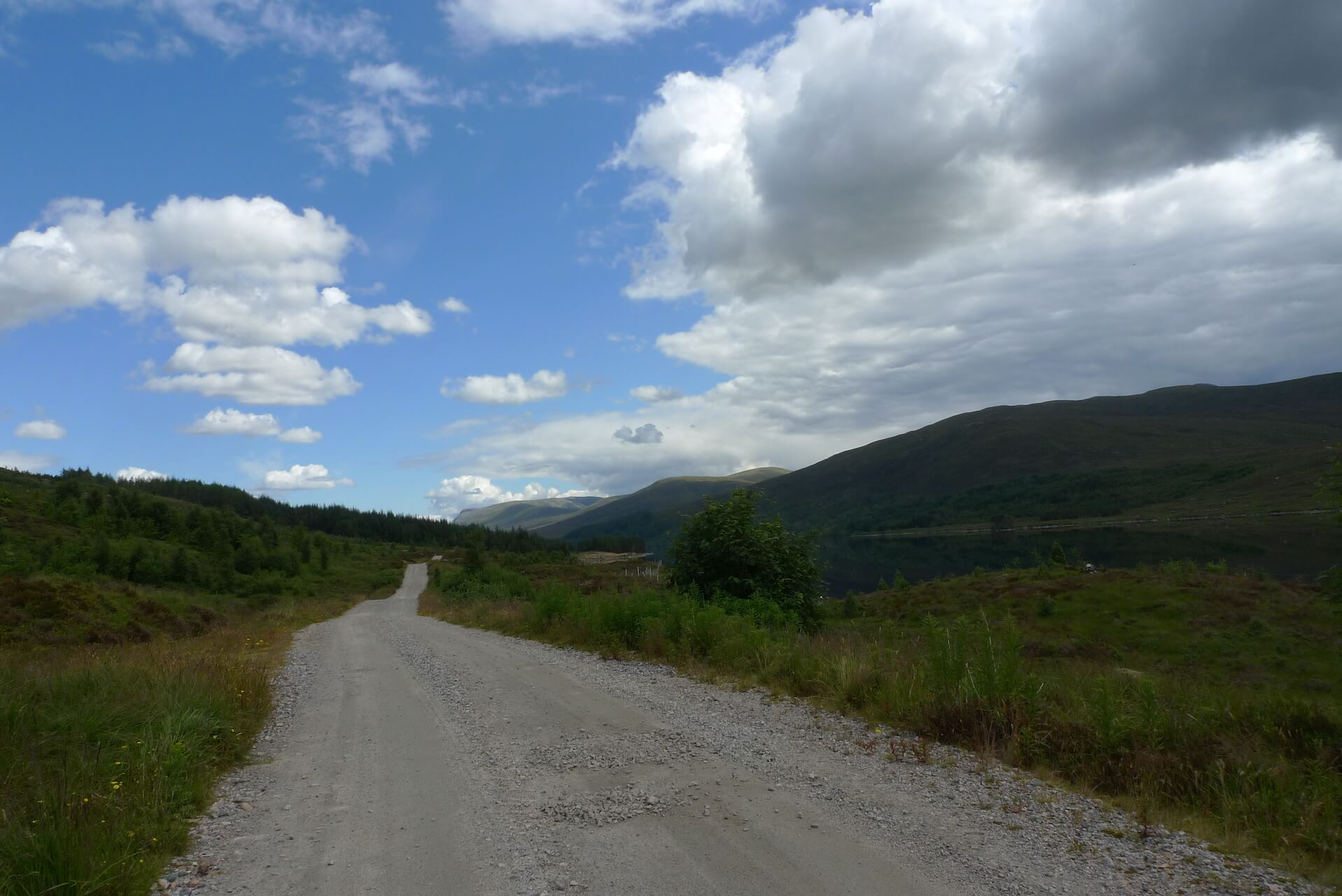 Track along the north side of Loch Ossian