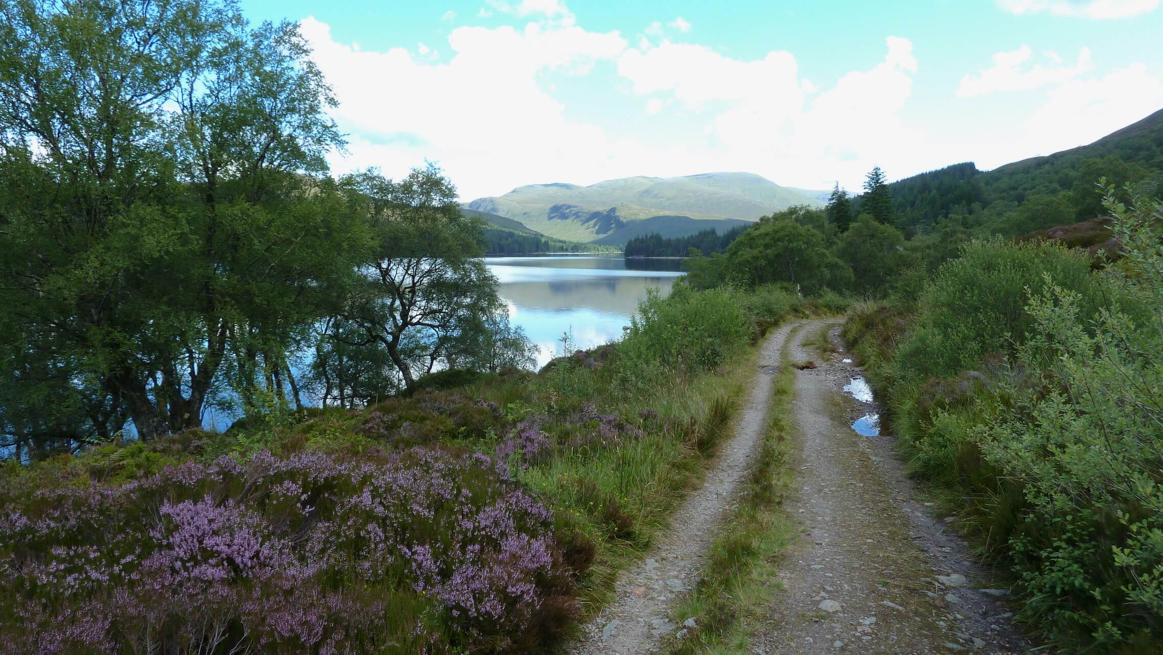 Loch Ossian - South track