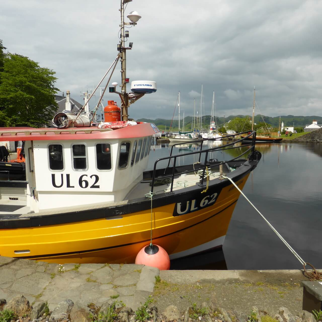 Fishing Boat moored on the Crinan Canal