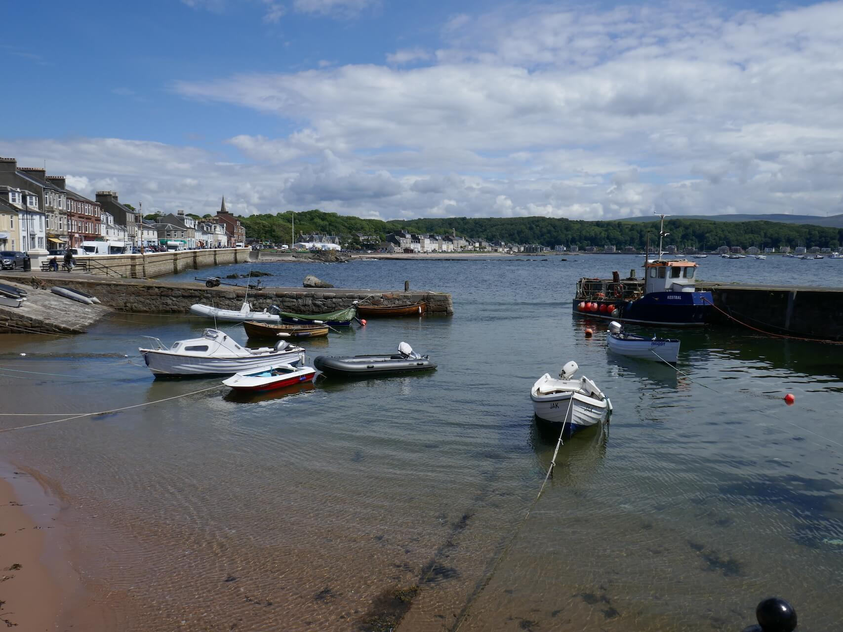 Small boats in Millport Harbour, Isle of Cumbrae