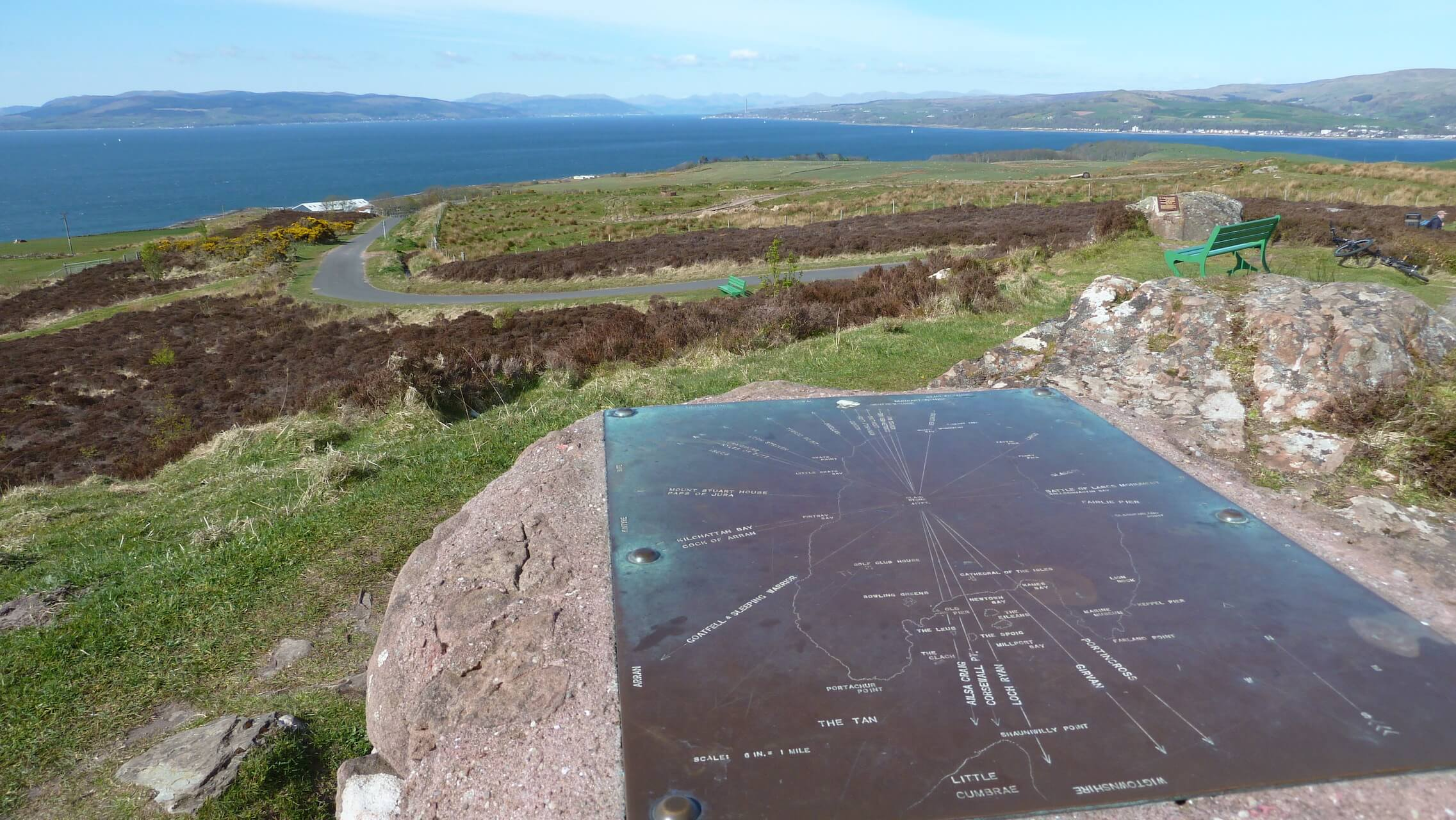 Viewpoint on Barbay Hill on the Isle of Cumbrae