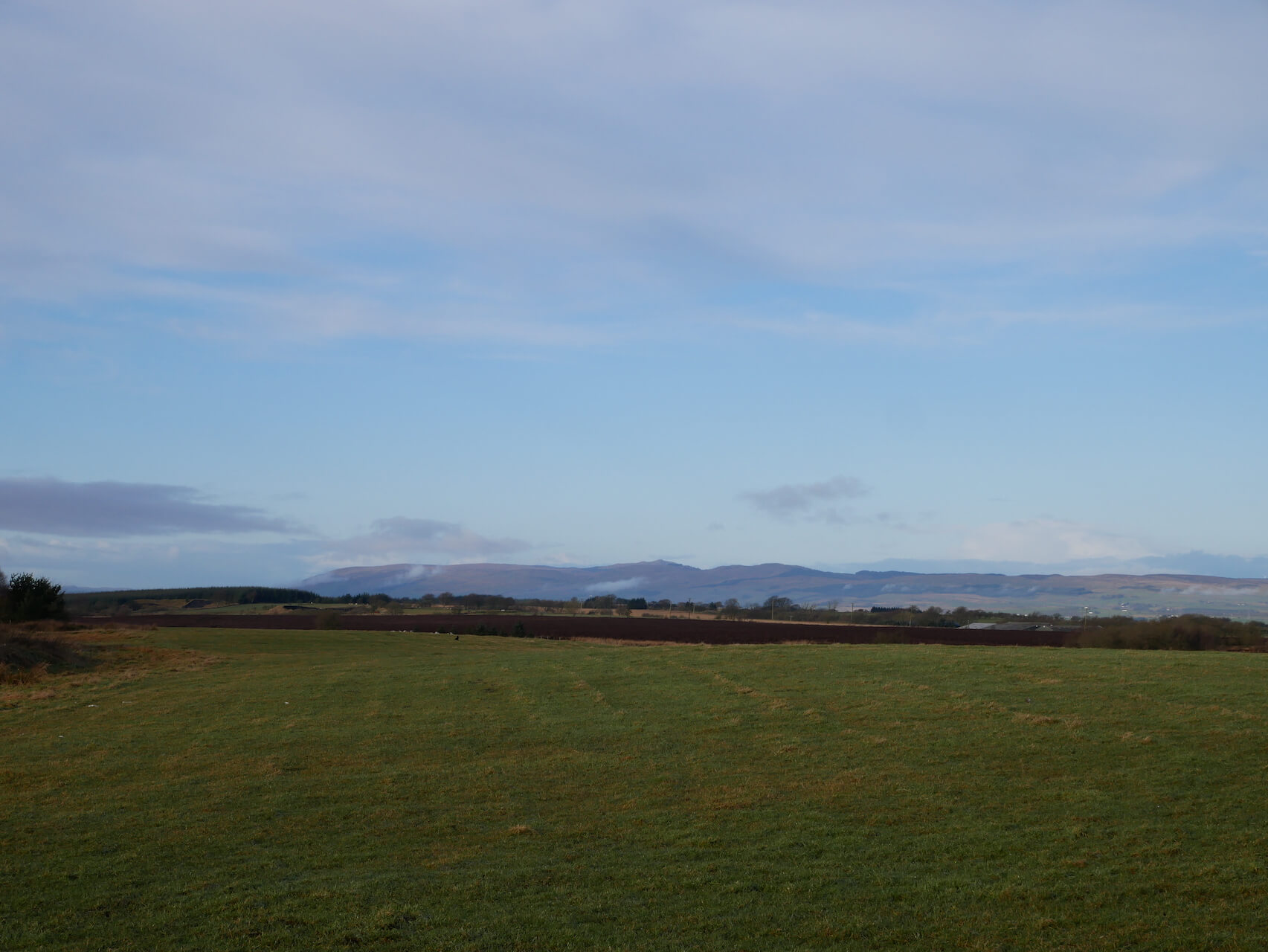 View of the Campsies from the hills north of Falkirk