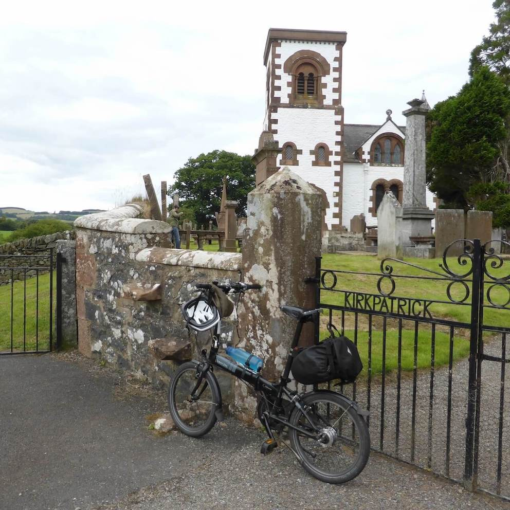 Irongray Church and graveyard along the Glenkiln Loop in Dumfries and Galloway